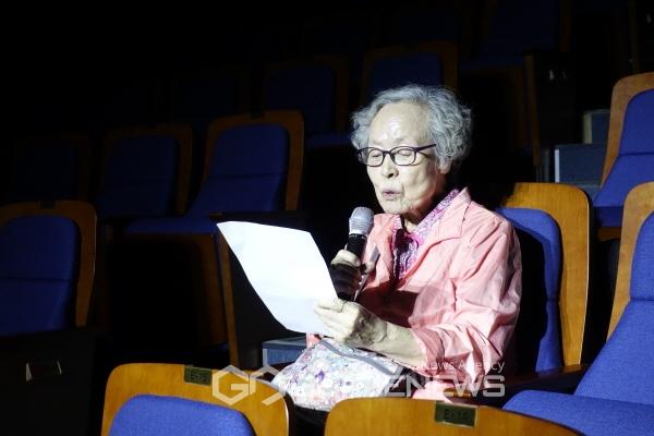▲ '70대 소녀' 박정순 '백다방콘서트'
