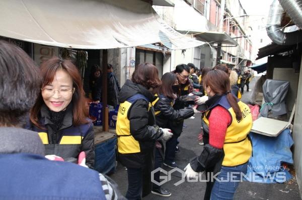 영진사이버대학교 사회복지계열, 사랑의 연탄나눔 봉사활동