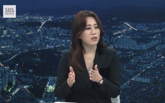 """'고발 사주의혹' 조성은 """"국정원법 위반 아냐""""(사진=SBS)"""