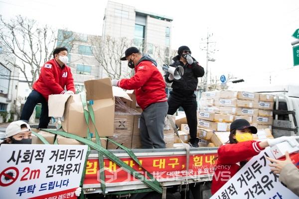 [포토] 배우 김보성 대구에 또 마스크 기부