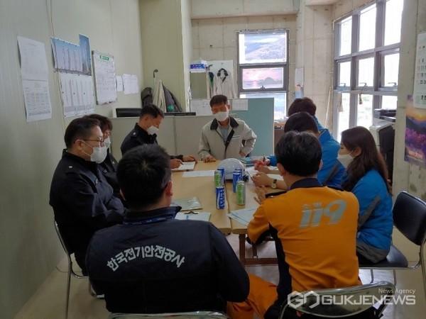 유관기관 합동 '공사현장 화재예방·안전 점검' 모습/제공=부산소방재난본부
