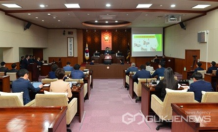 제289회 제천시의회 임시회 모습