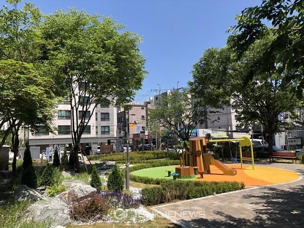 도심정원으로 새단장한 풍덕천소공원 모습(사진=용인시)