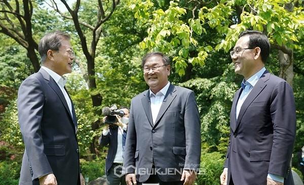 문재인 대통령, 여야원내대표 회담