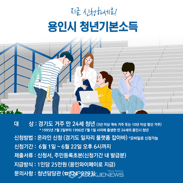 용인시 청년기본소득-3분기 신청 안내 홍보물