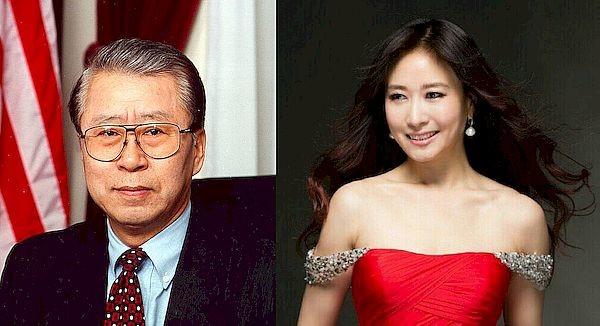 김창준 전 의원(왼쪽)과 한예진 전 단장.