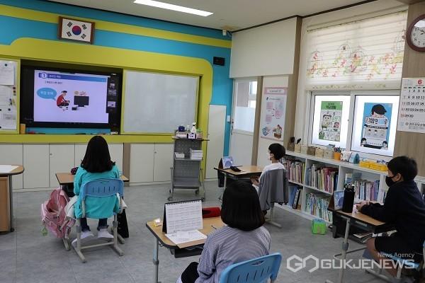 사이버 폭력.도박 예방 교육 모습.(사진제공=괴산증평교육지원청)