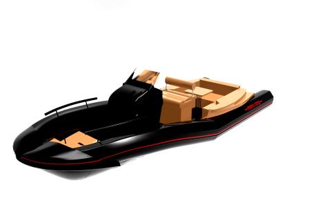 모루상사에서 개발 예정인 'S-TUBE를 적용한 수출형 RIB 보트' 디자인.(사진=부산시 제공)