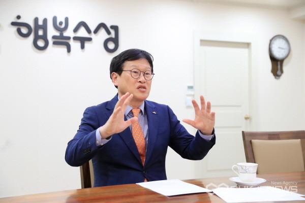 김대권 수성구청장(사진=백운용 기자)