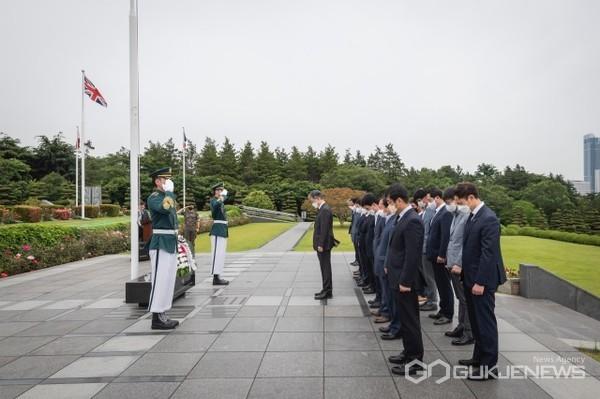 부산 유엔기념공원서 6.25 전쟁 참전용사 추모 행사 모습/제공=남부발전