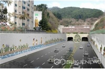 제2만덕터널 모습/제공=부산시