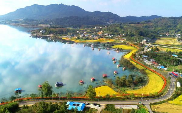 숨은 관광지 예산군 예당호 느린 호수길