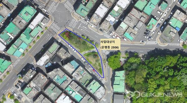 성남시 중원구 은행오거리 쉼터 조성 사업 위치도