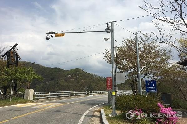 회남대교 CCTV모습.(사진제공=보은군청)