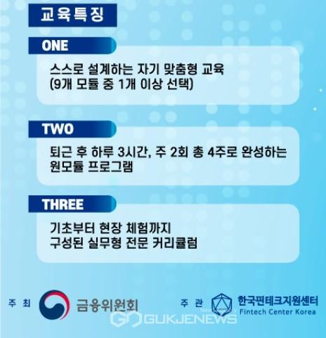 한국핀테크지원센터가 9개 교육 과정으로 구성된 핀테크 리더스 아카데미를 운영한다.