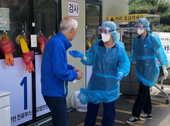 현대유비스병원이 워크스루 선별 진료소에 대한 안전성을 강화했다.