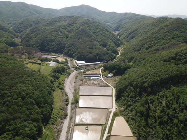 포항시장기면산서저수지가들어설게될곳의전경(사진=한국농어촌기반공사제공)