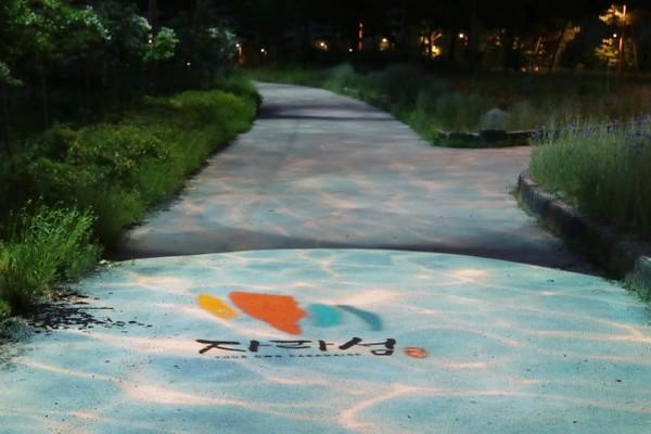 (사진제공=가평군) 자라섬 남도에 설치된 야간조명