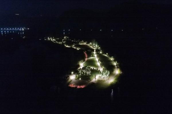 (사진제공=가평군) 자라섬 남도 야간조경 전경