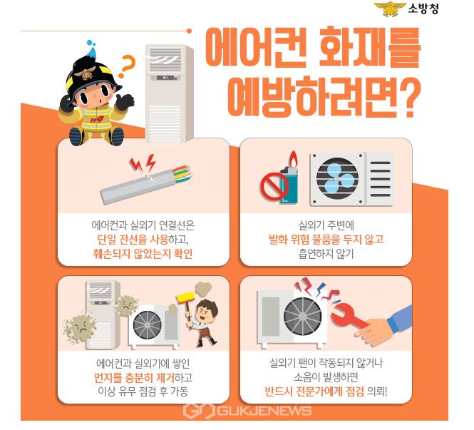천안동남소방서, 에어컨 실외기 화재 예방 홍보물