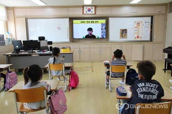 온라인 학생회장 선거 모습.(사진제공=청주교육지원청)