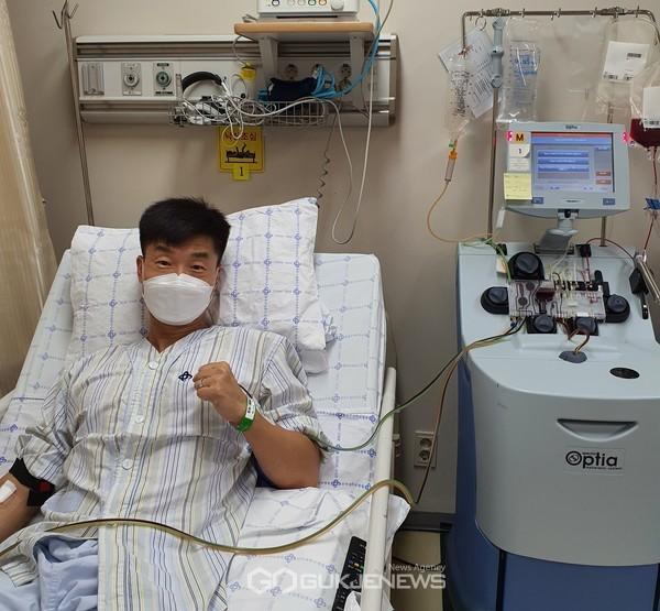 육군 8기계화보병사단 최연규 소령, 조혈모세포 기증...어린 환자 생명 나눔