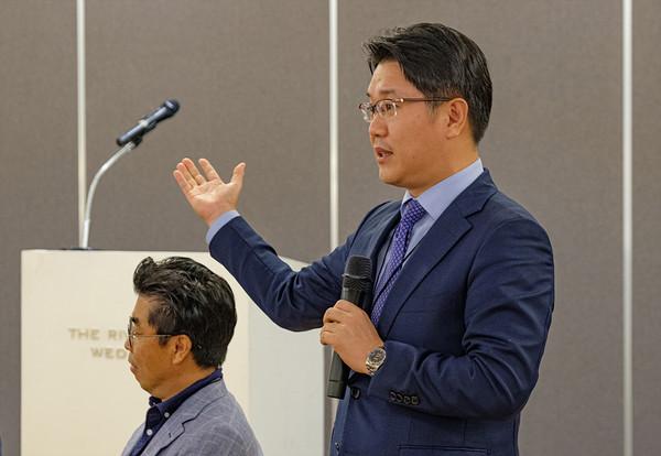 한국미래가치 포럼, 인사말하는 이일우 SK 하이닉스 부사장