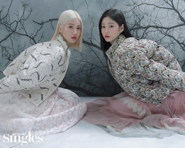 아이즈원 권은비X김민주, 훈훈한 케미 선보인..첫 유닛 화보 공개