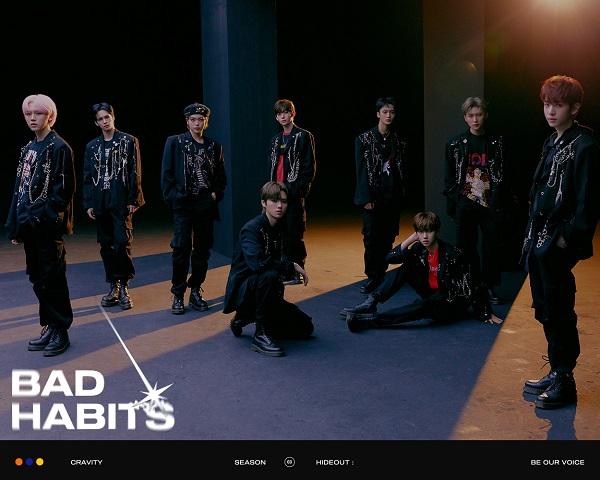 11일 컴백 크래비티, 후속곡 Bad Habits 콘셉트 포토..9人 9色 블랙 카리스마 발산