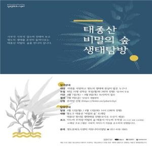 홍보용 웹포스터 시안(태종산 비밀의 숲 생태 탐방편)