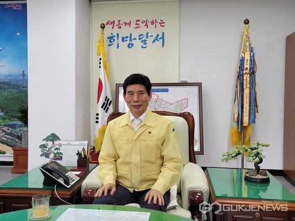 이태훈 달서구청장(사진=백운용 기자 )