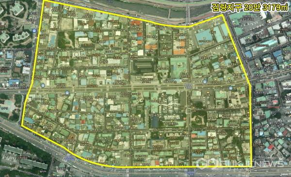 (사진제공=용인시) 김량지구 지구단위계획 변경 제안 가이드라인 수립 '김량지구 구역도'