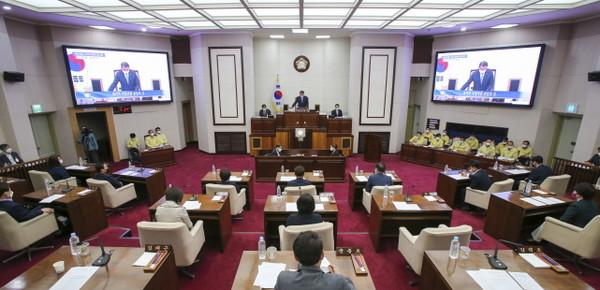 구미시의회본회의전경.(사진=구미시의회)