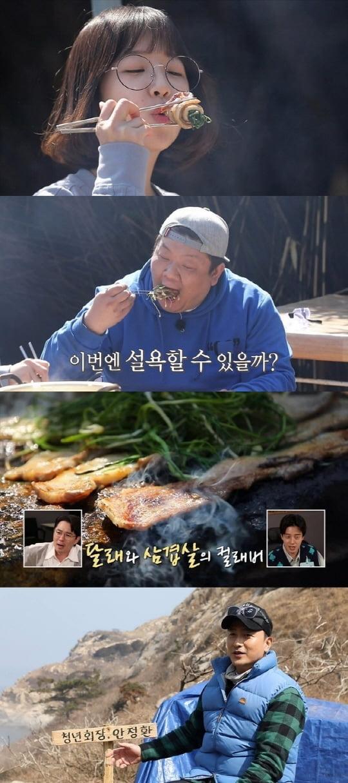 안다행 쯔양, 유민상과 역대급 먹방