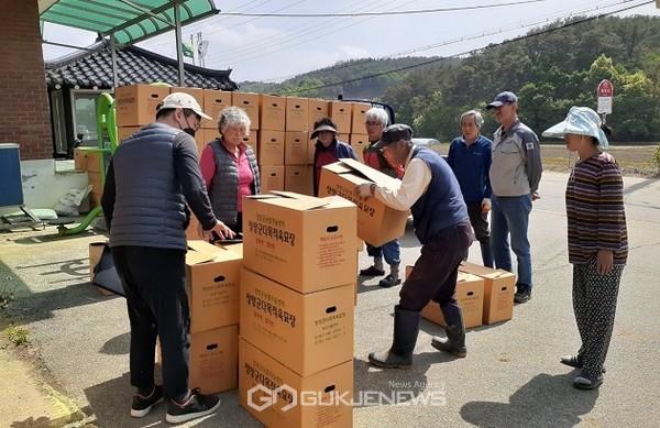 청양군,우량고추모종100만주배송완료(사진=배송준비모습)