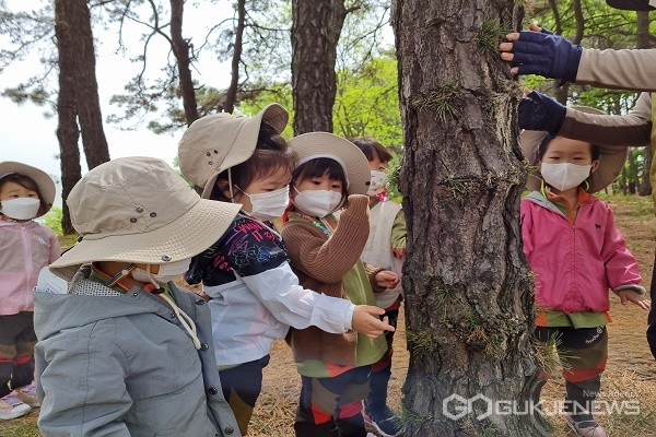 초록빛세상숲체험모습.(제공=옥천교육지원청)