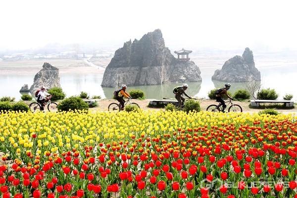 단양 도담삼봉의 봄(사진=단양군)