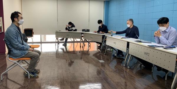 (사진제공=성남문화재단) 2021성남독립영화제작지원 면접심사