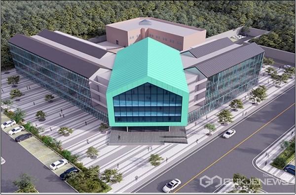 (사지제공=경남교육청) 경남 밀양 교동에 2024년 6월 개관을 목표로 건립에 들어가는 경남진로교육원 조감도.