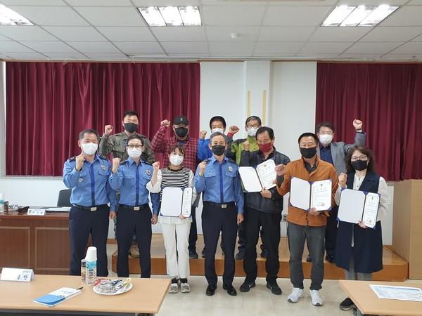 사진은 지난달 28일 열린 '연안안전지킴이' 위촉식 모습.