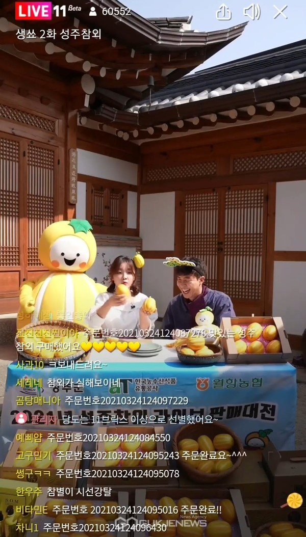 aT 라이브방송으로 농수산식품 新유통 선도