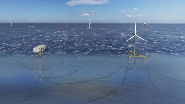 동해1 부유식 해상풍력 발전사업 조감도.