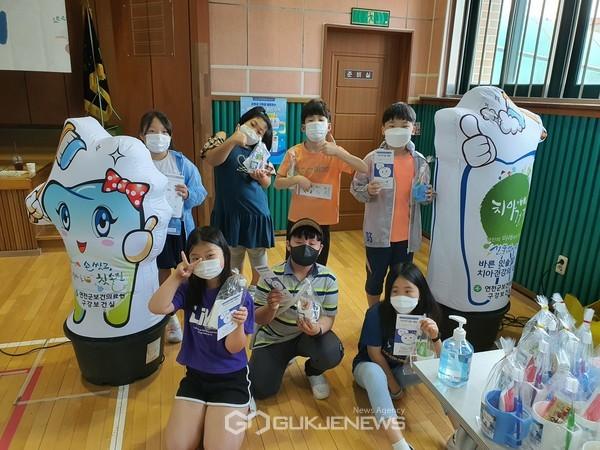 연천 은대초교, 학교로 찾아가는 구강보건의 날 행사 실시.(사진제공.은대초교)
