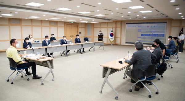 구미시,문화도시조성계획수립용역보고회개최.(사진=구미시)