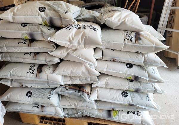 주덕읍 익명기부천사 쌀기탁(사진=주덕읍)