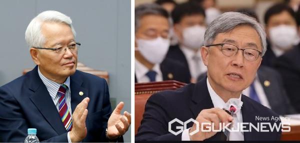 정의화 전 국회의장(좌)과 최재형 전 감사원장.