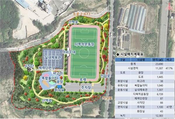 '체육공원' 조성계획안/제공=정동만의원실