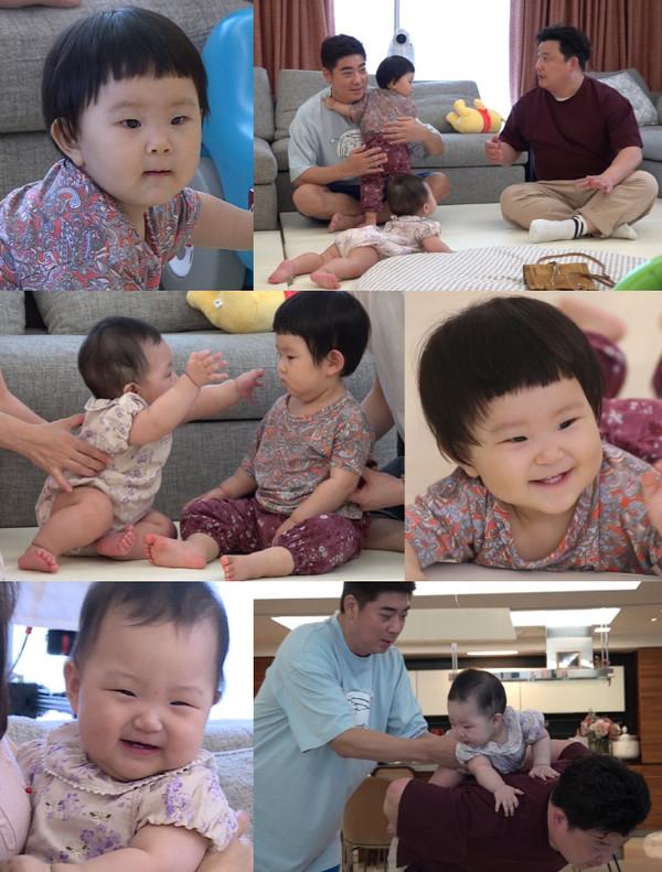 윤정수, 서효림·정명호 딸 조이 육아 나섰다(사진=KBS2)