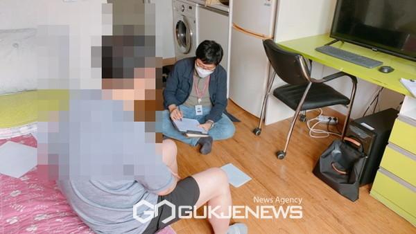 동두천시 무한돌봄센터, 위기가구 상담.(사진제공.동두천시)