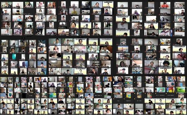 제3회 '평화사랑 그림그리기 국제대회' 온텍트 진행 모습